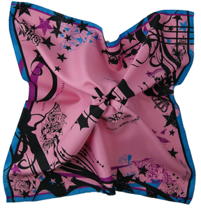 Twill Satin Neckerchief Scarf for Ladies Neck Scarf Square Bandana Kerchief