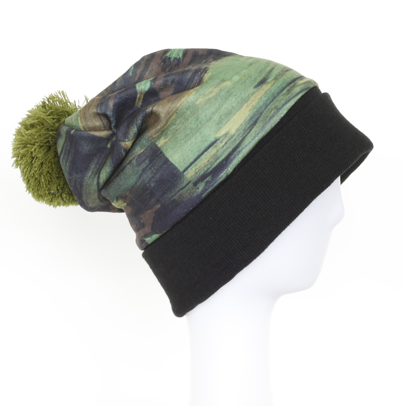 New Design Unisex Fashion Colorful Knitted Beanie Cap with Pompom
