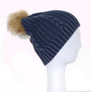 Wholesale Customized 100% Acrylic Simply Jacquard Cuffed Knitted Winter Beanie Hat