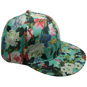 Ladies fashion hats custom floral snapback caps girl snapback cap private label baseball cap hat with flower