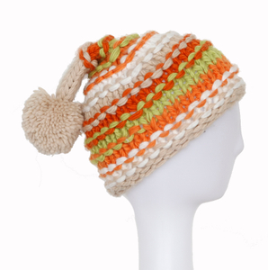 2018 Customized Colorful Hot Sale Jacquard Knit Hat with Pompom