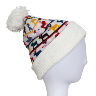 2018 New Arrival Customized Jacquard Knitted Hat/Cap Beanie Hat with Pompom