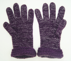 Wholesale Customized Small MOQ Hot Sale Acrylic Knitted Glove with Metal Yarn