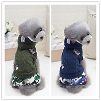 Dog Knitting Wool jacquared Turtle neck Sweater Pet Winter Clothes