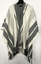 New Women's Winter Coat Poncho Scarf Women Printed Geometric Oversize Pashmina Shawl Wrap Lady's Winter Stole Scarves