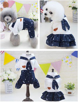 Autumn & Winter Velveteen Warm Cartoon Pattern Pet Dog Clothes for Small Pets