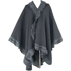 Chunky Knit Shawl Cardigan Sweater Open Front Poncho and Shawl