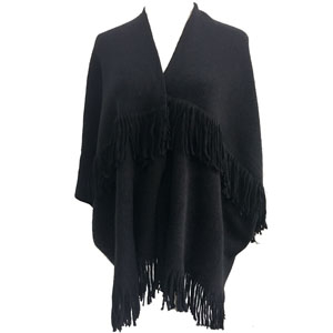 Women Fashion Cashmere Knitted Poncho Shawl