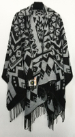 Fashion woven acrylic women winter capes oversize wholesale winter shawl